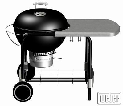 Weber One-Touch® Platinum Black